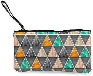 Wrution - Monedero de Lona con diseño geométrico Triangular ...