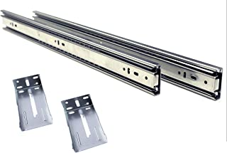 10 Pack Berta Full Extension Ball Bearing Drawer Slides for Face Frame Cabinets with Rear Brackets 20-Inch 100Lb Load Rating (10 Pairs)