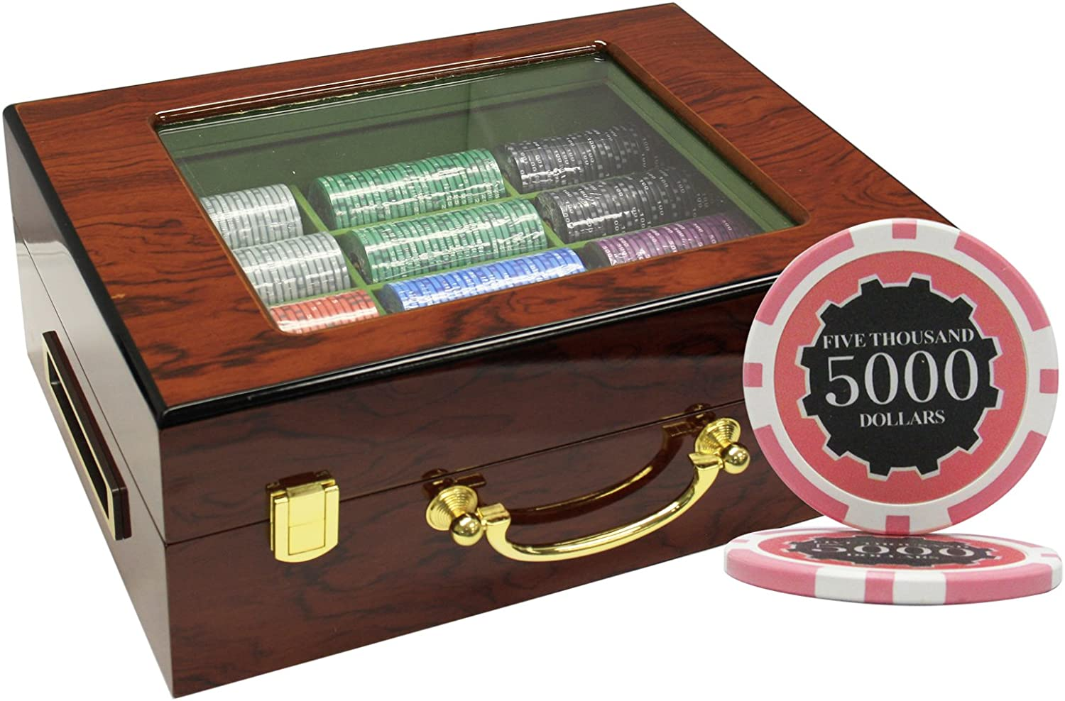 MRC 500pcs Eclipse Poker Chips Set OFFicial shop NEW before selling with Wood Customized Case Cus