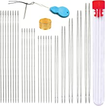 6 Pieces Beading Needles Big Eye Beading Needles Beading Embroidery Stainless Needles with Needle Bottle and 3 Pcs Bead Needle Threader for Jewelry Making 4.01inch