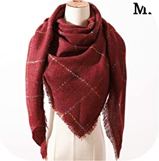 Cashmere Scarf For Women Autumn Winter Shawls Wraps Neck Warm Headscarf Blanket Triangle Femme