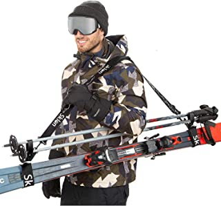Sklon Ski Strap and Pole Carrier | Avoid The Struggle and Effortlessly Transport Your Ski Gear Everywhere You Go | Feature...
