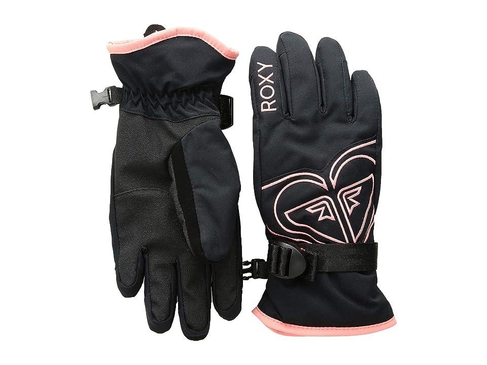 Roxy Kids Poppy Gloves (Little Kids/Big Kids) (True Black) Extreme Cold Weather Gloves