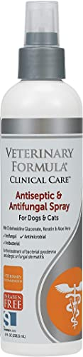 Veterinary Formula Clinical Care Antiseptic and Antifungal Spray/Shampoo for Dogs and Cats – Fast Acting Medicated Tr...