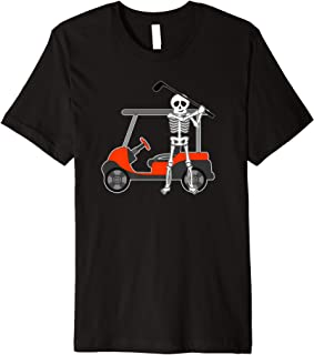 Halloween Golfer Skeleton Shirt   Funny Golfing Gift Premium T-Shirt