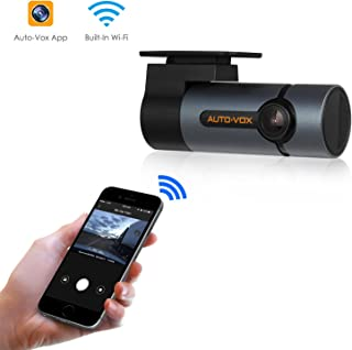 AUTO-VOX D6 Pro 1080p WiFi Dash Cam, Gesture Photography Dashboard Camera with 300° Rotatable Lens and Looping Recording for Cars, Trucks, Vans, Trailers