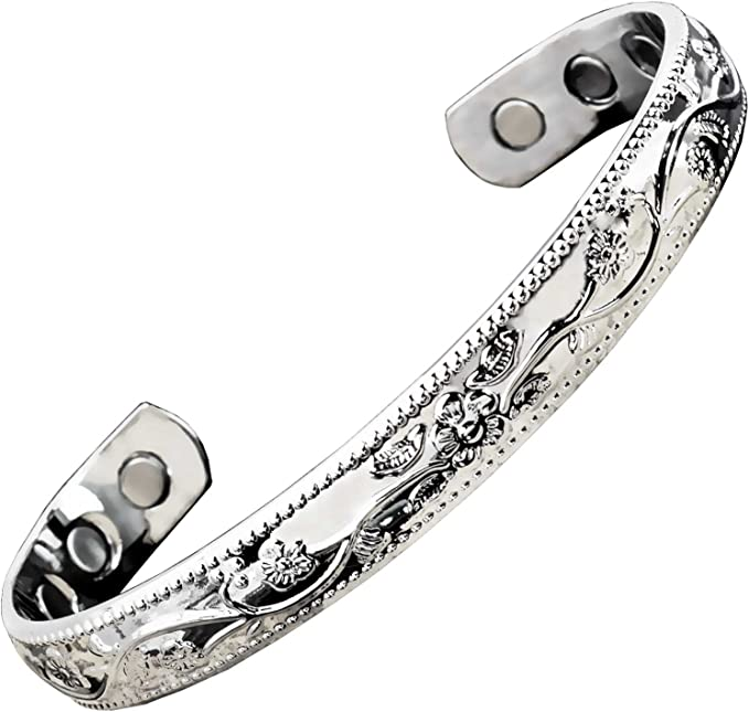 AM047 Round Allergy Free Tarnish Free Bracelet \u2022 High Quality Recycled Steel \u2022 Golden Accessories \u2022 Gift For Her Womens Bracelet Bengals