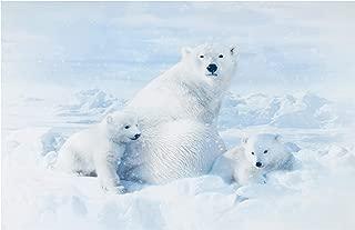 Hoffman Fabrics Digital Call Of The Wild 30'' Polar Bear Panel Snow Fabric Multi