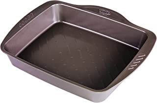 Negro Acero Pyrex Bandeja Horno 35X27Cm Asimetria 2.14 cm