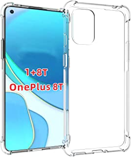 Oneplus 8T / One plus 8T 5G Case Cover Back Air Cushion Soft Silicone Shockproof Ultra Slim Anti-Scratch Protective Bumper...