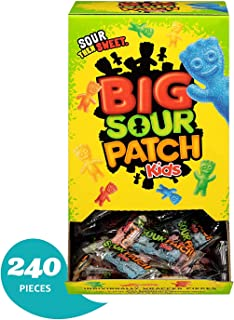 Sour Patch 240 Count Bulk Kids Sweet and Sour Halloween Candy, Trick or Treat Individually Wrapped Packs (2 Packs (240 Count))