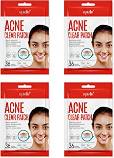 Acne Clear Patch | Hydrocolloidal Translucent Pimple Stickers | Faster Healing, Non-Drying, Drug-Free | 4 Pack