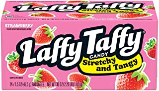Laffy Taffy Stretchy & Tangy Strawberry, 1.5 Ounce, Pack of 24, BOX/24 (12124993)