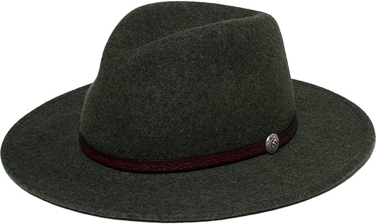 Stetson Mens Cromwell Wool OFFer Felt free Repellent Water Olive Crushable
