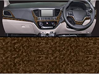 Autographix Hyundai Verna 2017 Car Interior Dashboard Trim - Set of 15 pcs (Castlewood)