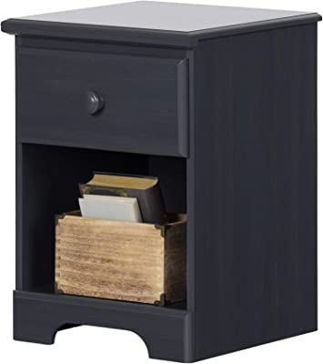 South Shore Summer Breeze 1-Drawer Nightstand Blueberry, Coastal