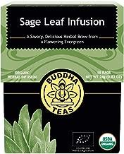 Organic Sage Leaf Tea – 18 Bleach-Free Tea Bags – Antioxidants, Gluten-Free, Kosher, Caffeine-Free, GMO-Free