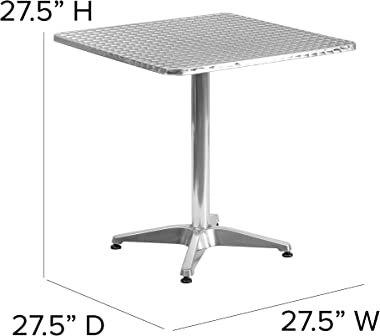 Flash Furniture 27.5'' Square Aluminum Indoor-Outdoor Table with Base