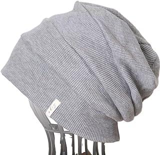 医療用帽子SIGN・オーガニックコットン・エコ杢グレー段々ワッチ 65-SA5