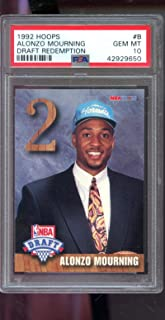 1992-93 Hoops Draft Redemption #8 Alonzo Mourning ROOKIE RC GEM MT MINT PSA 10 Graded NBA Basketball Card