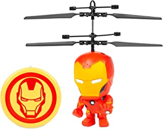 Iron Man 3.5 Inch Flying Figure IR UFO Big Head Remote Control Marvel Helicopter