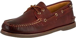 Sperry Top-Sider pour des Hommes Chaussures Bateau dorées A / 0 à 2 Yeux, Rouge