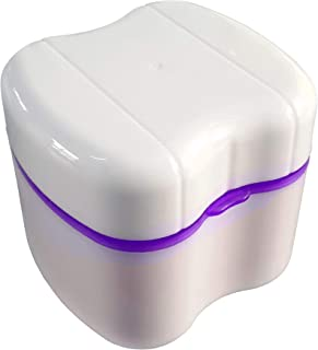 Gus Craft Lavender Purple Denture Box with Simple Retrieval Tab, Great for Dental Care,..