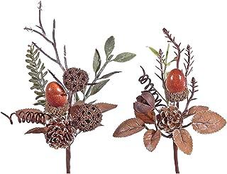 IH CASADECOR Acorn Pinecone Pick (Asstd) Ornament, Multi