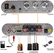Super BASS Amplifier LP-838 12V Smart Mini Hi-Fi 2 Channels Car Stereo Power Amplifier with CD MP3 MP4(NO Included The Power Adapter!