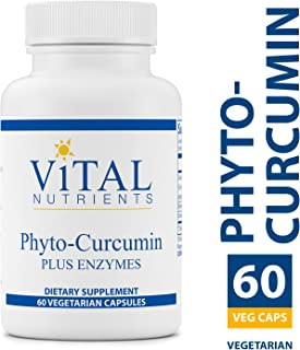 Vital Nutrients - Phyto-Curcumin Plus Enzymes - Helps Maintain and Support Healthy Inflammatory Balance - 60 Vegetarian Capsules per Bottle