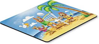 Caroline's Treasures Bears Playing Volleyball Mouse Pad, Hot Pad or Trivet, Multicolor (APH0373MP)