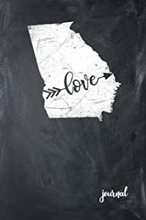 Love Journal: State of Georgia Gypsy Arrow Love Blank Diary 120 Paged College Lined 6x9 Travel Journal