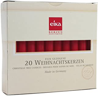 Box of 20 Red Chime Candles by Eika 4 Inch