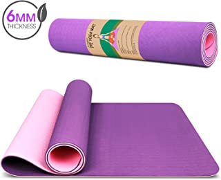 Dralegend Yoga Mat Exercise Fitness Mat - High Density Non-Slip Workout Ma for Yoga,  Pilates & Exercises,  Anti - Tear,  Sweat - Proof,  Classic 1/4 Inch
