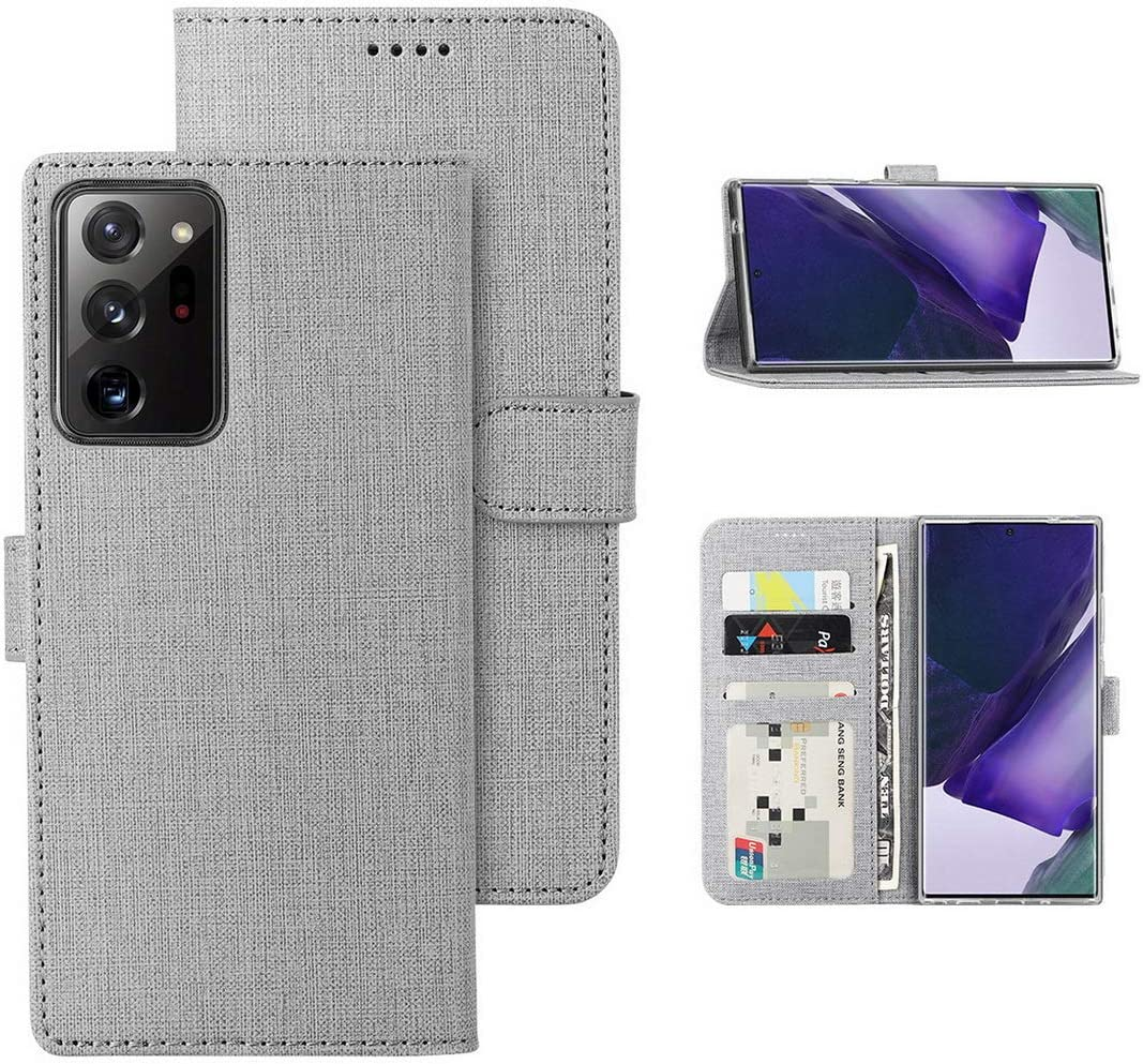 Redluckstar Samsung Galaxy Note 20 Ultra 5G Case PU Leather Wallet Flip Cover [3 Card Slots 1 Money Pocket] [Magnetic Closure] [Stand Kickstand] Shockproof Folio Phone Case for Galaxy Note 20
