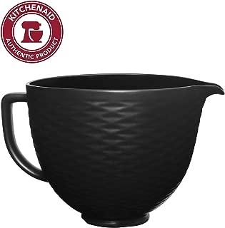 KitchenAid KSM2CB5TBB 5QT Stand Mixer Bowl, 5 Qt, 3D Black on Black Textured Ceramic