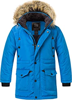 Boy's Active Hooded Puffer Jacket Padded Winter Mid-Long Thicken Outwear