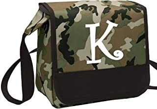 monogrammed camo lunch box