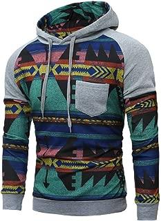 Men Pullover, Mens Spring Sweatshirt Sportswear Long Sleeve Hooded Top Blouse Sports Pullover Sweatshirt