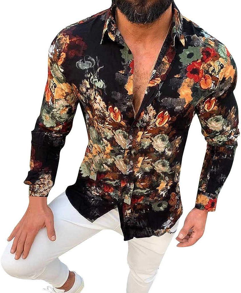 waotier Camisas Casual Camisa Hawaiana Hombre Casual ...