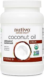 Nutiva Oil Coconut Oil Virgin, 15 fl. oz