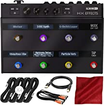 Line 6 HX Effects Multi-Effects Pedal Bundle with Assorted Cables