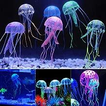 SciencePurchase 6 Pack of Floating Neon Artificial Jellyfish - Fish Tank Aquarium Decoration