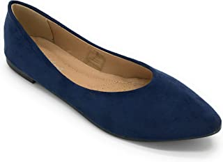 J.Mark Women Suded Pointed Toe Slip On Flats