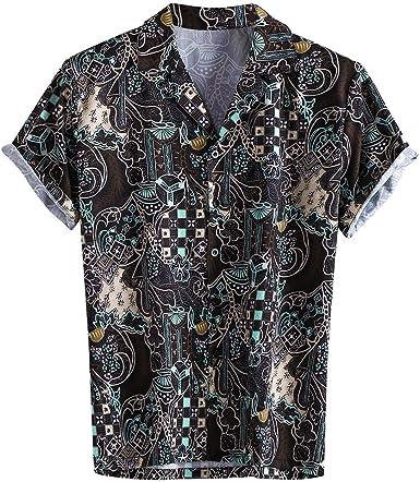 Camiseta de manga corta para hombre, informal, con estampado ...