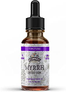 Myrrh Tincture, Myrrh Extract (Commiphora myrrha) for Indigestion, Ulcers, Cough, Colds, Immune Support, Non-GMO in Cold-P...