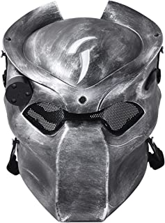 Outgeek Outdoor CS Games Costume Mask Ventilate Protective Face Mask with Infrared Lamp for Masquerade Cosplay