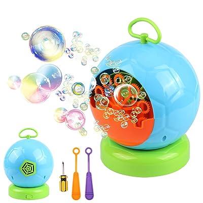 AMOSTING Bubble Machine Automatic Bubbles Blowe...