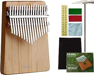 Kalimba 17 Keys, Randon Kalimba Thumb Piano with Tune Hammer, Portable Musical Instruments for Kids Adults and Beginners.