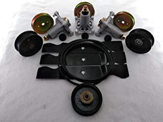 PROVEN PART Replacement Deck Kit 48 Inch Sears Craftsman Spindles Blades Belt Pulley 187292 153532 196106